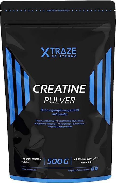Creatina vegana - creatina di monoidrato polvere 500 g - xtraze 4260435487944