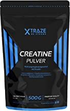 Creatine Monohydraat Poeder, 500 g Veganistisch, Ongearomatiseerd & Zuiver Creatine Poeder voor Pre-Training, Fitness, Bod...
