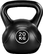 Yaheetech Kettlebell, 20 kg, zwart, kogelhalter met neopreencoating, swinghalter, gewichten, halter voor krachttraining