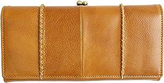 [MIRACOLO] がま口財布 レディース 本革 長財布 大容量 がまぐち イタリアンレザー 財布 牛革 小銭入れ カード入れ ひも付き