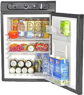 Smad Réfrigérateur Camping 60L, Mini Réfrigérateur Silencieux, Frigo Trimixte 12V/220V/Gaz, pour Camping-car, Camion, Cara...