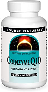 Source Natural Coenzyme Q10 Antioxidant Support 30 mg For Heart, Brain, Immunity, & Liver Support - 60 Softgels