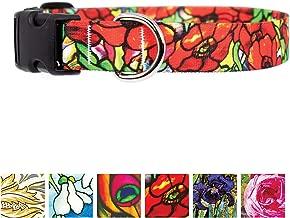 poppy flower dog collar