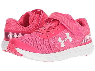 Under Armour Kids UA GPS Surge Running AC (Little Kid) (Penta Pink/White) Girls Shoes