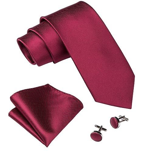 f7745e361510 Wang Men Ties Silk Handkerchief Cufflink Necktie Set Plain Solid Color