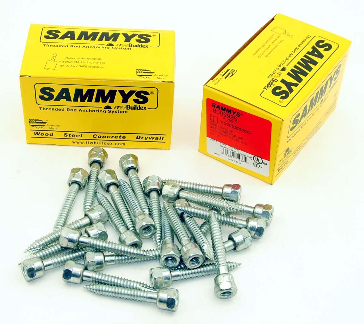 (25) Sammys 3/8-16 x 2-1/2 Threaded Rod Hanger for Wood 8009925