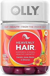 Olly Heavenly Hair Gummies, Supports Strong Healthy Hair Growth, Keratin, Biotin, Amla, Grapefruit Flavor, 30 Day Supply -...
