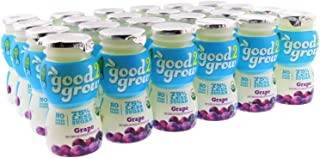 good2grow Grape Juice Bottles, 6-Ounce Good2grow Refills, 24 Pack - USDA Certified Organic Juice with 75% Less Sugar than 100% Juice, non-GMO, BPA-Free - Use with Spill-Proof Good2grow Toppers