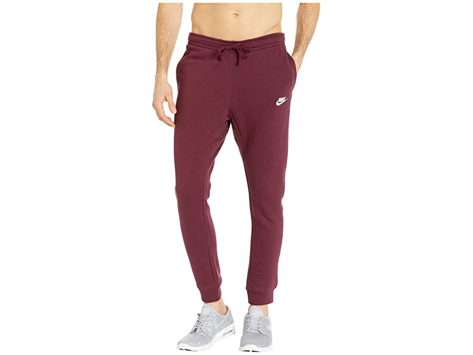 Nike Sportswear Fleece Jogger (Night Maroon/White) Men