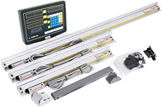ECO-WORTHY 3 Axis Digital Readout For Milling Lathe Machine with Customized Precision Linear Scale (from 50mm to 1000mm)