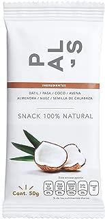 PAL'S Snacks barra de energía 100% natural y proteína, Vegana, sabor Coco Rallado & Semilla de Calabaza, 50 gr, 6 barras