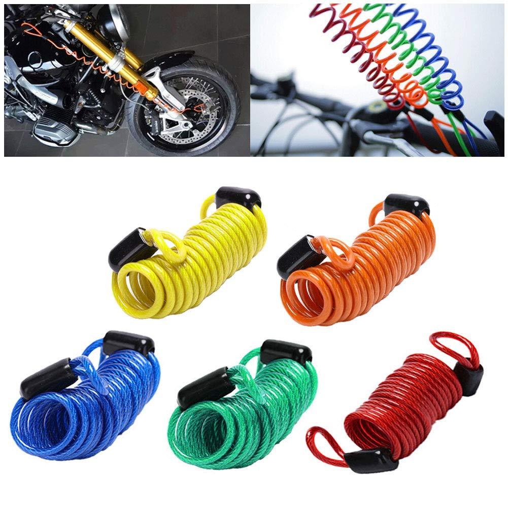 Anti Thief Motorbike bicycle Wheel Disc Brake Bag Reminder Spring Cable lockHGUK