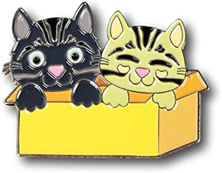 Cats in Boxes Enamel Pin, Cute and Perfect Accessory for Backpack, Jacket, Lapel, or Hat