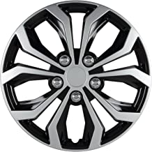 Pilot WH553-14S-BS Universal Fit Spyder Black/Silver Finish 14 Inch Wheel Covers - Micro - Set of 4