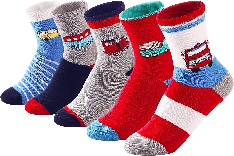 SUNBVE Kids Boys Soft Fashion Cotton Dress Socks Gift