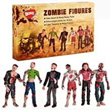 BOHS Zombie Dolls Action Figures Toys - Articulated Joints Miniature Model - 4 Inches - Pack of 6