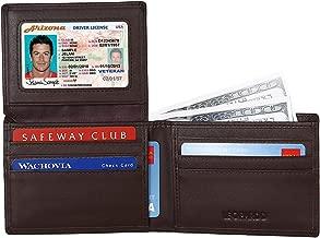 Leopardd Men's Bifold Wallet - Best RFID Blocking Genuine Leather Wallet/Credit Card Holder for Men
