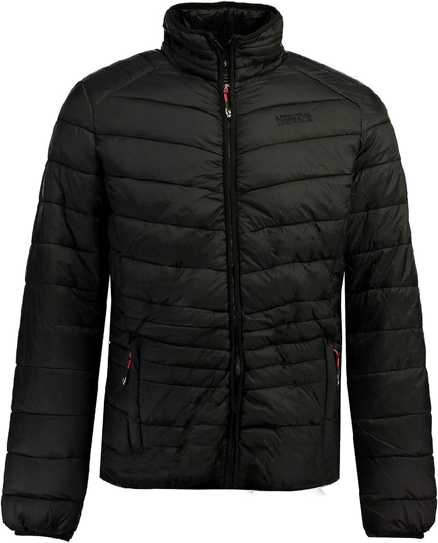 Geographical Norway Damiel Basic Long Sleeve Lightweight Water-Resistant Packable Puffer Down Alternative Zip Jacket for Men