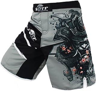 سراويل رجالي رياضية رمادية من SOTF سراويل الملاكمة التايلاندية فنون القتال المختلطة