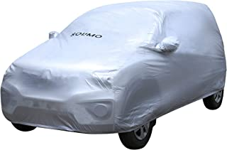 Amazon Brand - Solimo Renault Kwid Water Resistant Car Cover (Silver)