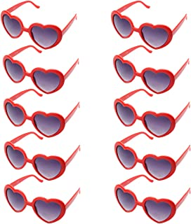 10 Pack Heart Shaped Sunglasses for Women Party Favors Eyewear Multiple Choice …