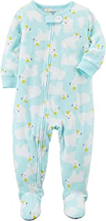 Baby Girls' 12M-4T One Piece Fleece Polar Bear Pajamas