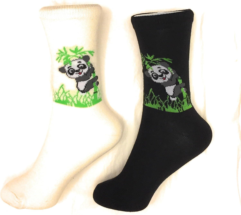 2 Pack Socks Panda Pattern Novelty Crew Socks Fun Fashion Casual Comfy Cozy (2 Pack)