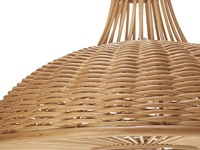 KOUBOO Wicker Neck Pendant Lamp, Long, Natural