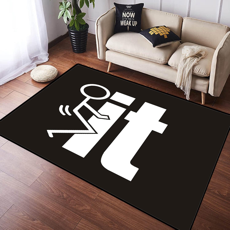 ZOMOY Long Floor Mat Ranking TOP14 Carpet Regular discount Fuck It Design Non-Slip Absorbent In