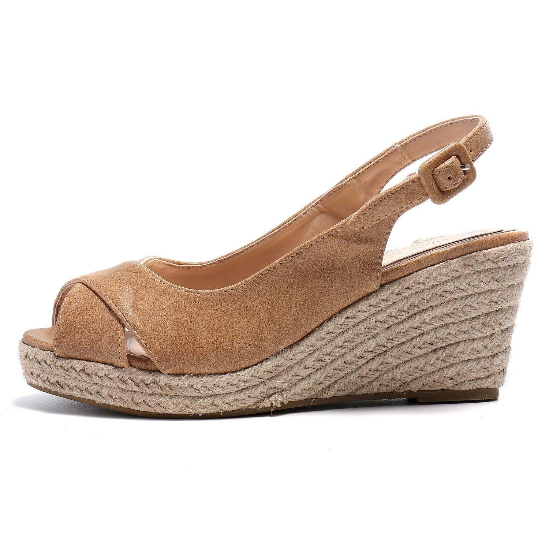 open toe espadrille wedge sandals