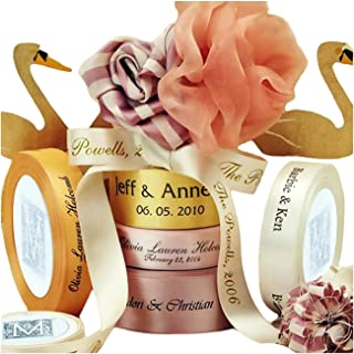 100 Yards/Roll Personalized Ribbon 0.6cm-7.5cm Width, Custom Continuous Print Ribbon for Favors, Wedding, Baby Shower, Party