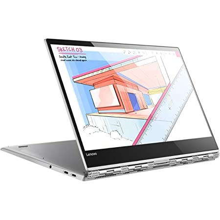 "Lenovo Yoga 920 - Portátil Convertible de 13.9"" UHD (Intel Core i7-8550U, RAM de 8 GB, SSD de 512 GB, Intel UHD Graphics 620, Windows 10 Home) Color Plata - Teclado QWERTY Español"