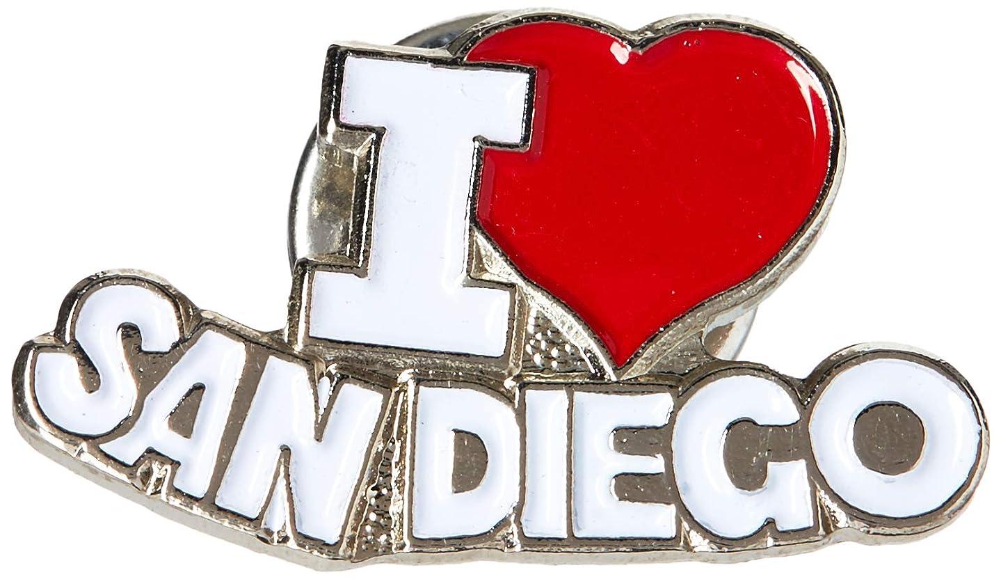 EagleEmblems P03923 PIN-CA,SAN Diego,I Heart (1'')