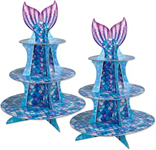 Beistle 53429 Mermaid Cupcake Stand, 16