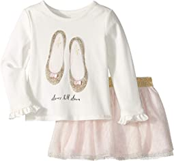 Kate Spade New York Kids - Glitter Flats Skirt Set (Toddler/Little Kids)