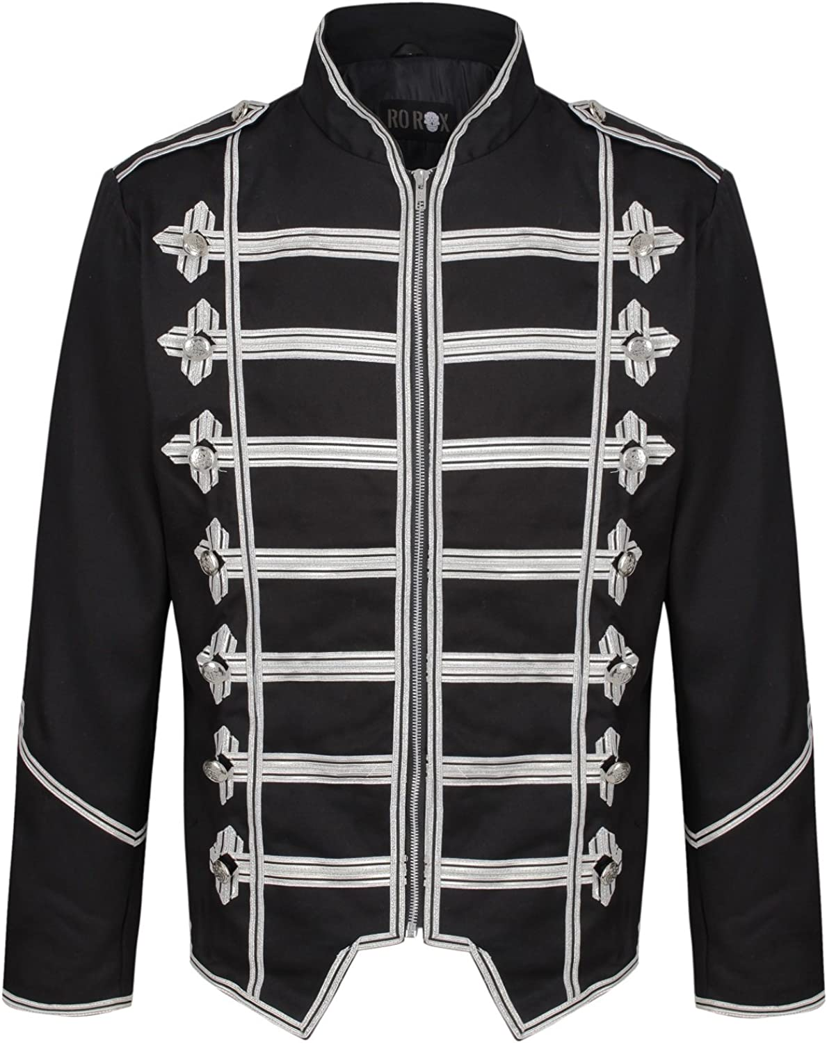 security Ro Rox Men's Steampunk Popular overseas Jacket Military Parade Gothic