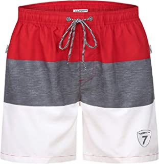 Mens Swim Trunks Swimming Beach Surfing Board Shorts Swimwear Quick Dry Mesh Lining Bathing Suits with Pockets