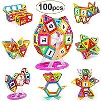 KIDCHEER Magnet Building Tiles, Magnetic 3D Building Blocks Set for Kids