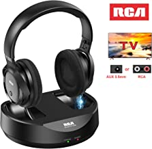 RCA Wireless TV Headphones, Over Ear Headphones for TV Watching, PC Phone MP3 iPod VCD..