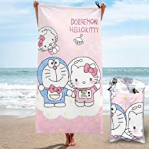 LEICH7 Super Absorbent Sports Towels,Doraemon and Hello Kitty Big Bath Towel/Beach Towel- for Outdoor Camping, Hiking, Bath, Pool, Beach, Travel 31.5