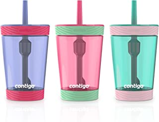 Contigo Spill-Proof Kids Tumbler with Straw, 3-Pack, Sprinkles, Wink And Persian Green