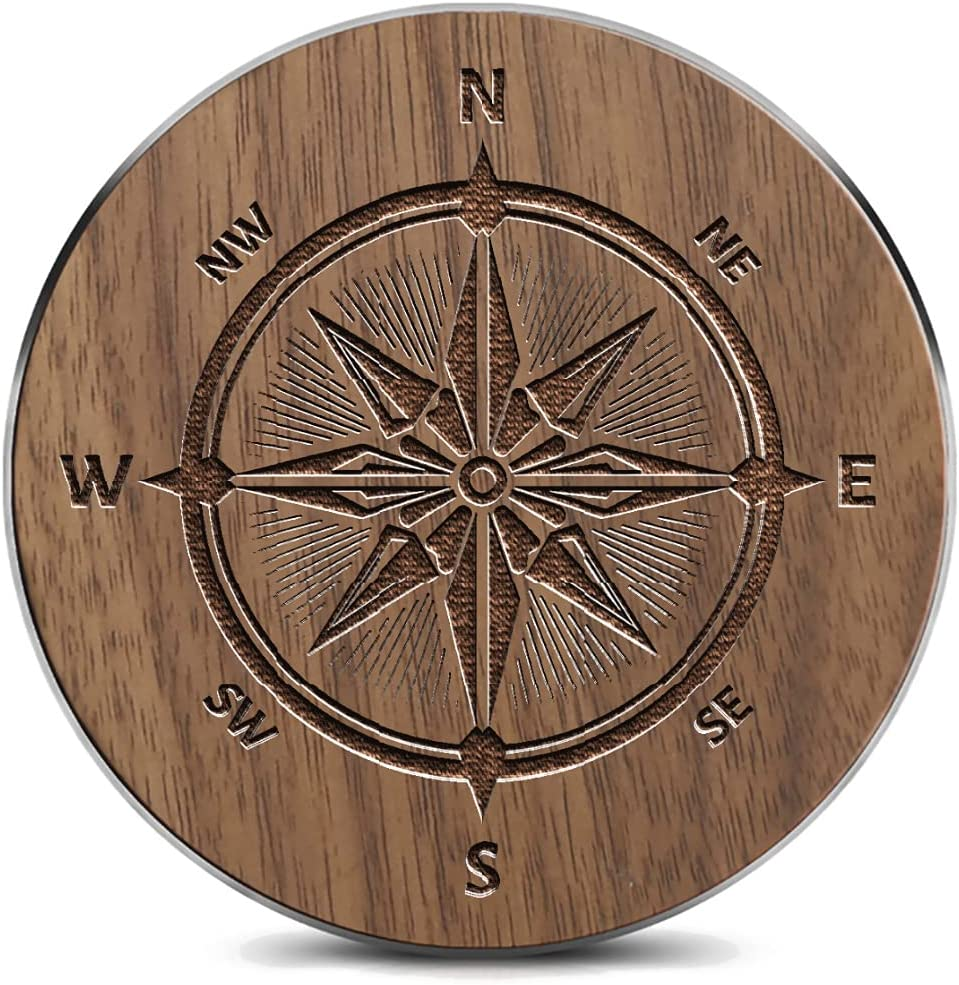 Wooden 35% OFF Wireless lowest price charger15W Vintage Arrow Nautical Compass Qi-Cer