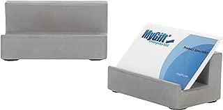 MyGift Desktop Concrete Business Card Holders, Set of 2