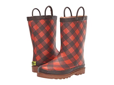 Western Chief Kids Campfire Plaid Rain Boot (Toddler/Little Kid) (Amber) Boys Shoes