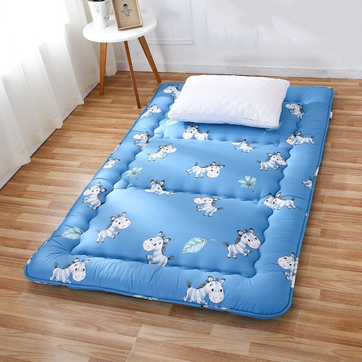 Foldable Thickening Tatami Floor Mattress,Hypoallergenic Tatami mat Mattress Dormitory Single Bed Mattress Cooling Mattress Topper-B 100x200cm(39x79inch)