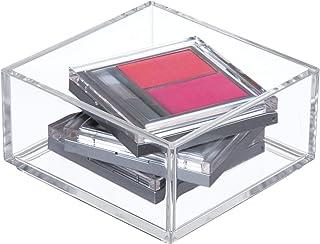 iDesign Organizador de maquillaje y cosméticos, organizador de cajones extrapequeño de plástico libre de BPA, caja apilable para baño, cocina y oficina, transparente