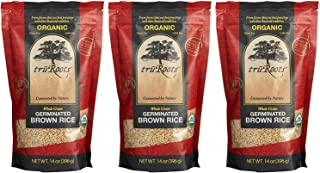 Truroots Organic Germinated Brown Rice, 14 Ounce  (Pack of 3)
