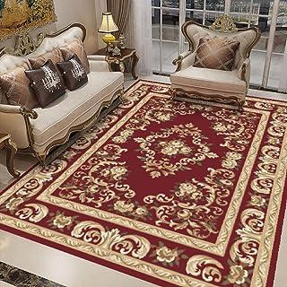 Tapis Salon Grand,Tapis Chambre Adulte Longs, Style Classique Rouge Tapis de Chambre, Tapis d'intérieur Moelleux 200X300(7...