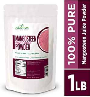 Mangosteen Juice Powder 16oz| Vitamin and Antioxidant Rich Superfood for Immune Support, Heart Health, Weight Management, Healthy Skin and Digestion– Water Soluble Mangosteen Juice Powder 1 lb