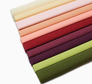 Lia Griffith Extra Fine Crepe Paper Folds Rolls, 10.7-Square